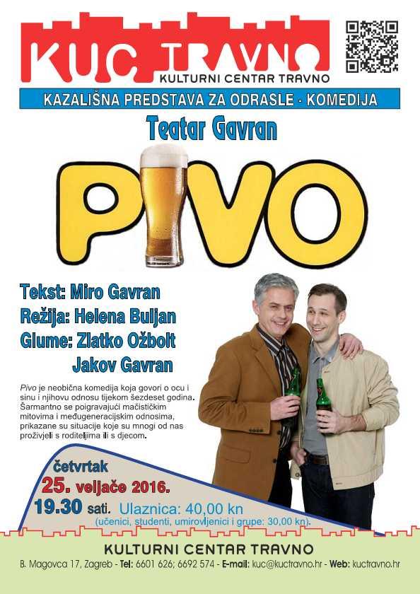 Predstava Pivo Gavran 25.2.2016