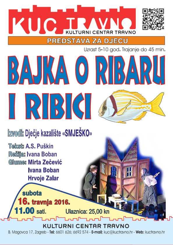 Predstava za djecu Bajka o ribaru i ribici 16.4