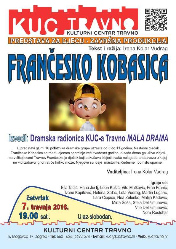 Predstava za djecu Frančesko kobasica 7.4.2016 dramska