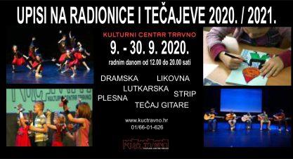 UPISI NA RADIONICE I TEČAJEVE 2020. / 2021.
